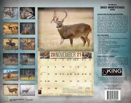 2021 Whitetail Deer Calendar, Whitetail Deer Calendar 2021, Kings Whitetail Deer Calendar, Monster Whitetail Deer Calendar