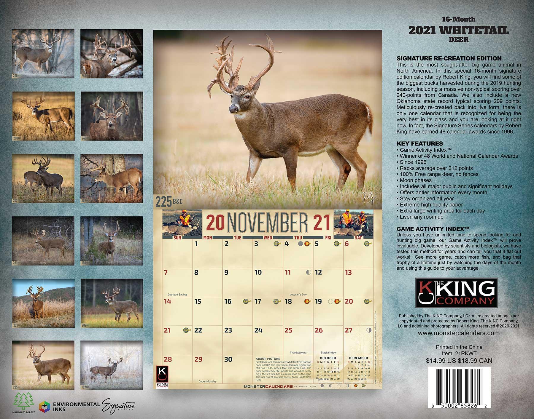 Deer Activity Calendar 2021 Background