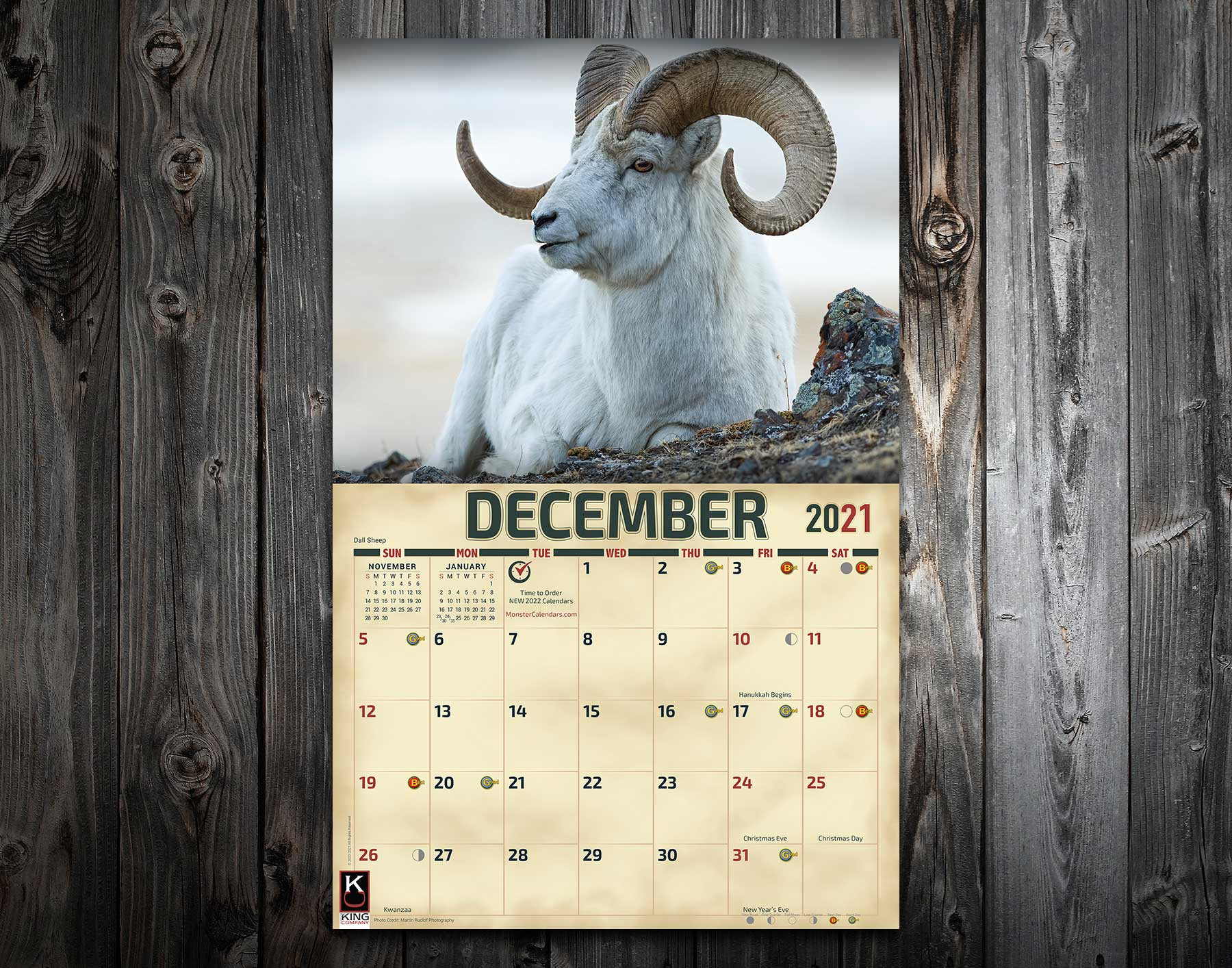 Images of Deer Activity Calendar 2021